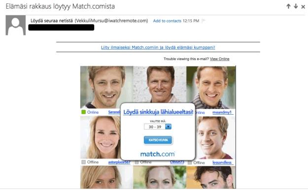Match lupaa rakkautta