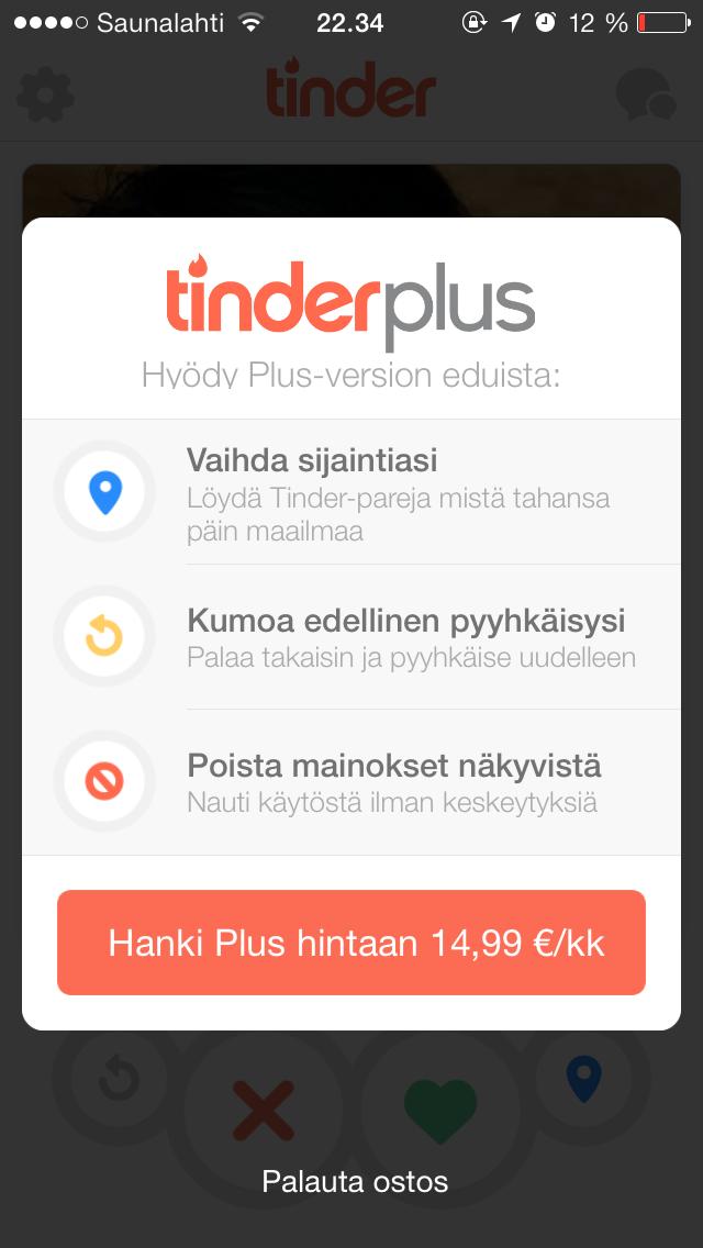 tinder ilman facebookia seksiä naisille